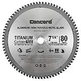 Concord Blades ACB0725T080HP 7-1/4' 80 Teeth TCT Non-Ferrous Metal Saw Blade