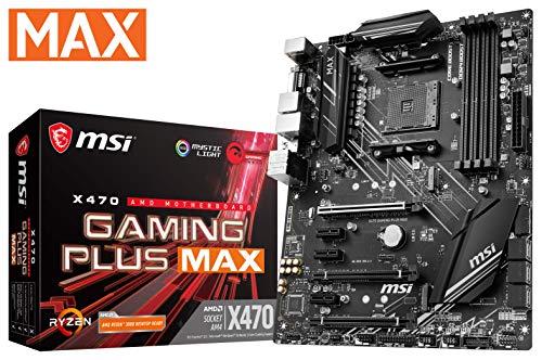 MSI Performance GAMING AMD X470 Ryzen 2 AM4 DDR4 Onboard Graphics CFX ATX moederbord X470 Game Plus Max
