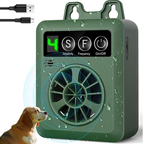 RXLLSY Mini silenciador de disuasión de Perros inofensivo, Dispositivo de Control de ladridos, Repelente de ladridos, disuasor de ladridos Recargable e Impermeable con Rango de 50 pies
