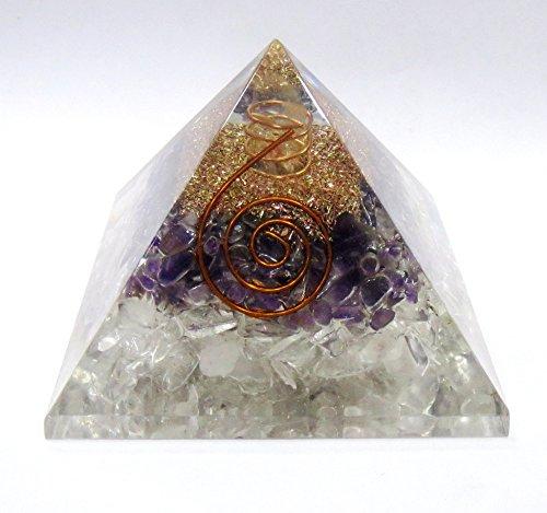 Orgonit Pyramide - Amethyst / Bergkristall 149