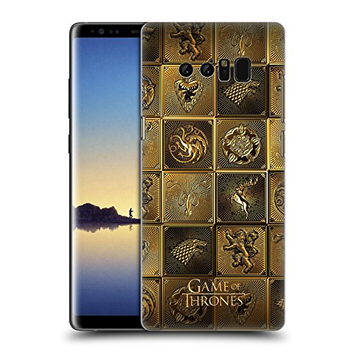 Head Case Designs Officially Licensed HBO Game of Thrones All Houses Golden Sigils Hard Back Case Compatible with Samsung Galaxy Note8 / Note 8