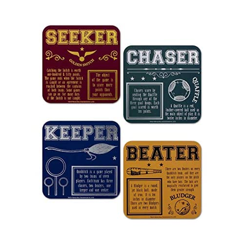 Harry Potter Coasters (Set of 4) - Quidditch