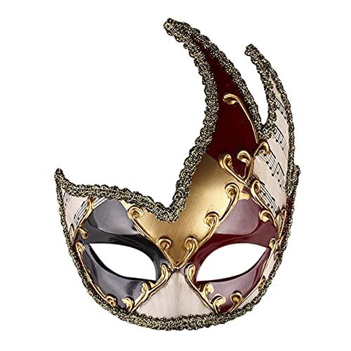 Trailrest Máscara halloween Máscara venecianas mujer sexy,para fiestas, bailes de graduación, Carnaval, bodas, decoración de pared (RD)