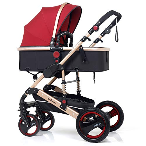 Buy Discount Gflyme Stroller Can Sit and Fold High Landscape Baby Stroller Two-Way Baby Stroller (Co...