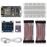 KeeYees WiFi ESP8266 Kit de estación meteorológica con Tutorial, GY-BME280 Sensor Módulo Temperatura Humedad Presión Barométrica + 1.3' Pantalla LCD OLED IIC + Cables de Puente + Breadboard