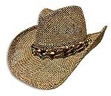 Sombrero Cowboy De Yute con Cinta De Piedras, Sombrero Cowboy, Sombrero de Yute, Sombrero para Sol,...