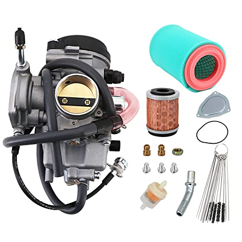 Tektall Carburetor for Yamaha big bear 400 250 YFM400 YFM400S 2WD 4WD 2000-2004 OE No. 1P0-E4450-00-00 with Air Fiter Oil Fiter Carbon Dirt Jet Cleaner Maintenance Tool kit