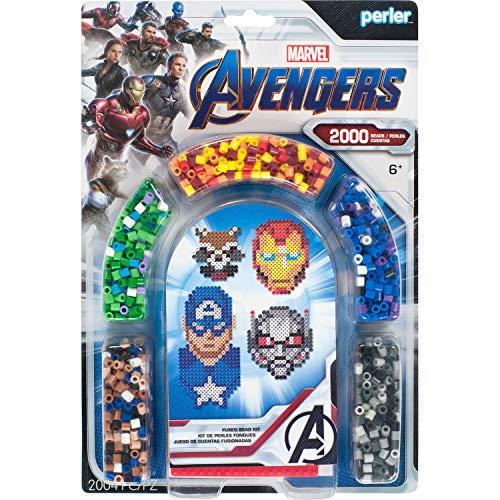 Perler Marvel Avengers Fuse Bead Kit, 2004pc, 4 Patterns, Multicolor