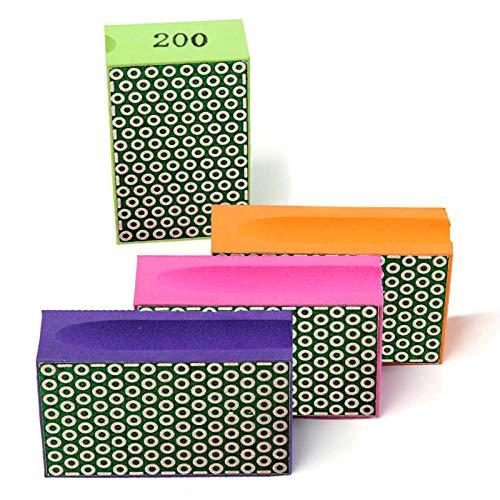 Diamond Hand Polishing Pads for Sanding Concrete Glass Stone Granite Marble 60#,100#,200#,400# (4Pcs/Set)