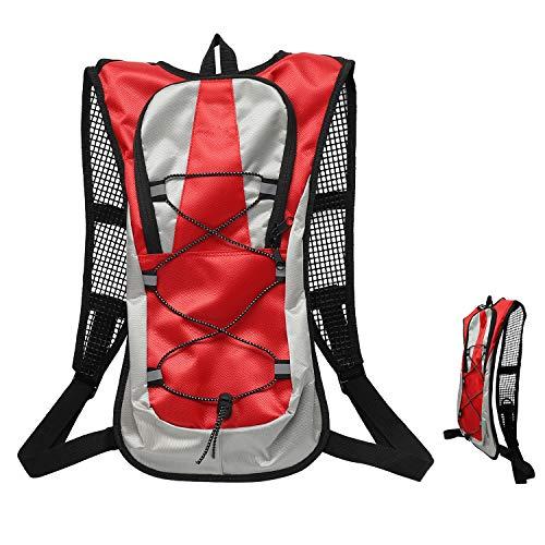 ioutdoor Fahrradrucksack 5L Wasserdichter atmungsaktiver ultraleichter Schulterrucksack mit sicherem Reflexstreifen für Radfahren, Marathon, Reiten, Wandern (Rot)
