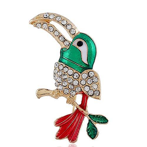 WTDlove Broche de Loro, Pintura Aceite Grande Pico pájaro Broche Broche de...