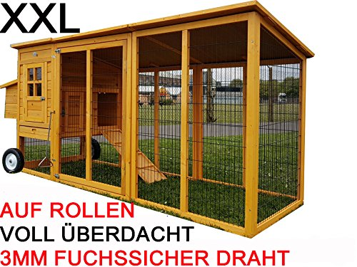 Buckingham Grand poulailler portable XXL 2,4 m fil 3 mm...