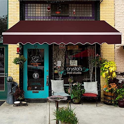 YQZ Toldo retráctil para Patio de 9,8 x 8,2 pies, Parasol de jardín Manual, Cubierta de Puerta de Ventana de terraza al Aire Libre, Parasol de Refugio, pérgola