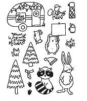 クリスマス透明クリアシリコンスタンプ/DIYスクラップブッキング/フォトアルバム用シール装飾クリアスタンプシートA1021