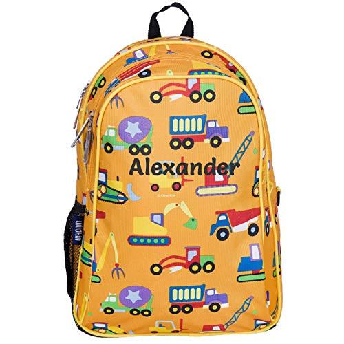Personalised Kids School Backpacks | Toddler Rucksacks for Primary School, Pre-School | Back-to-School Bags … (Construction)