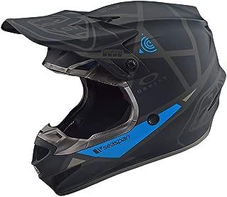Troy Lee Designs SE4 Polyacrylite Metric Off-Road Motocross Helmet (Black,  Small)