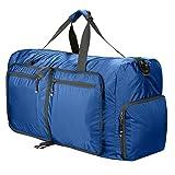 Reisetasche Groß Ultraleicht Faltbare 85L Reisegepäck Duffle Taschen Weekender Übernachtung Taschen Reisetasche Sporttasche für Herren Damen Sport Reisen Gym Urlaub (Blau)