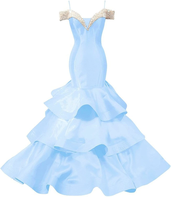 Beilite Cap Sleeves Beaded Prom Dress Mermaid Party Gown