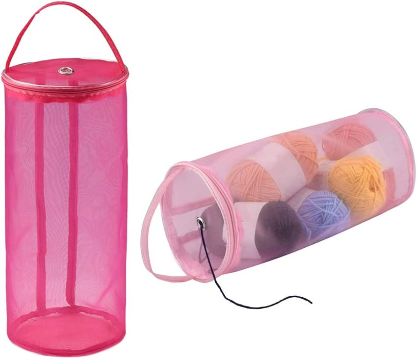 New York Mall Katech 2 Pieces Max 60% OFF Empty Yarn Storage Knitting Bags Portable Ro Bag
