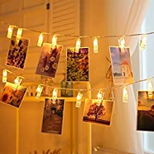 MT-Photo Clip Lights Decoration for Birthday, Festival Occasion, Wedding, Party(Yellow)