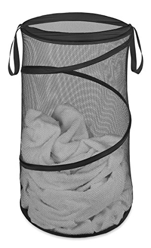 Whitmor Collapsible Laundry Hamper-Ast Pgray TURQ Blk