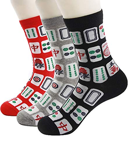 Three Pairs Of Mahjong Novelty Socks