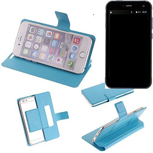 K-S-Trade Flipcover Für Cyrus CS 28 Schutz Hülle Schutzhülle Flip Cover Handy Hülle Smartphone Handyhülle Blau