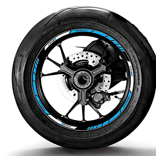 Aplicar a C400X Motocicleta Modificado Etiqueta de HUB de la rueda Impermeable Rueda de Rueda de Rueda de Rueda de Rueda PERSONALIZADA (Color : A)
