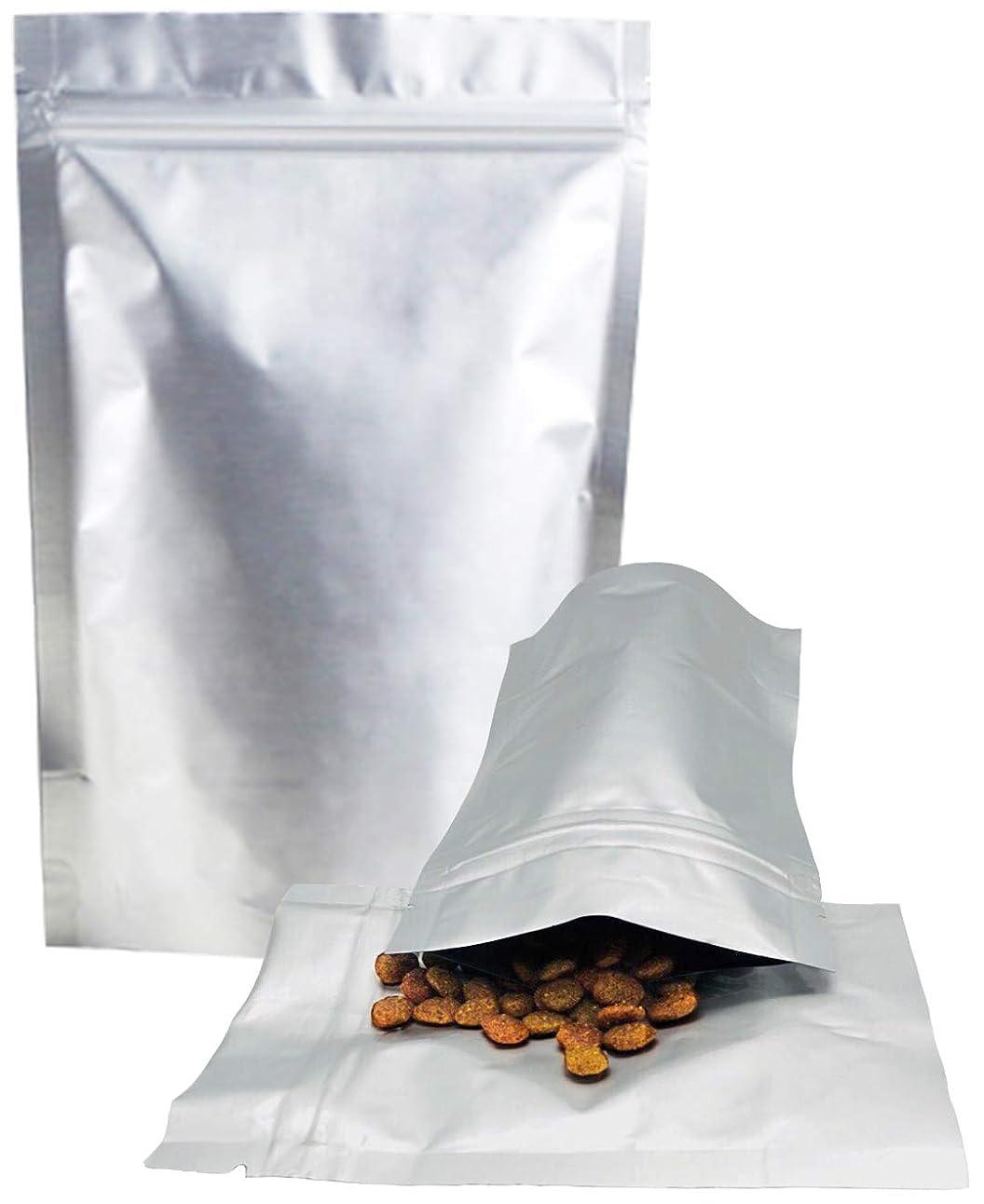 ベーコン病者グレード3world 業務用 アルミ ジップ袋 遮光 遮断 防湿 小分け 保存袋 スタンディングタイプ SW1382-14x19cm-小30枚