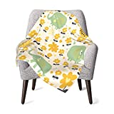 GOWINEU Couvertures pour bébé Toddler Quilt Housse de Poussette Douce 30 X 40 Pouces / 76 X 101 cm (Elephant Floral)