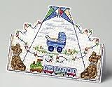 La Muscade Company Carte 3D Kit broderie pour point de croix Motif bébé garçon