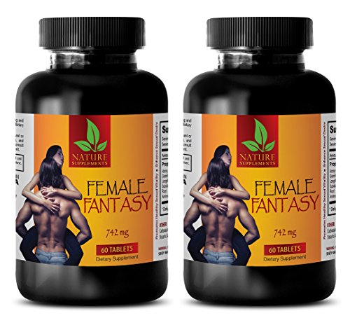Female Enhancement Sex - Female Fantasy (LIBIDO Boosting Formula) - Horny Goat Weed Extract Capsules - 2 Bottles 120 Tablets
