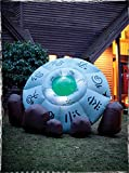 Morbid Enterprises Crashed UFO Inflatable, Grey/Brown/Black/Green, One Size