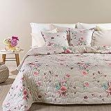 Copriletto Primaverile Trapuntato Caleffi Matrimoniale Articolo Flora colore Rosa 260X270 cm