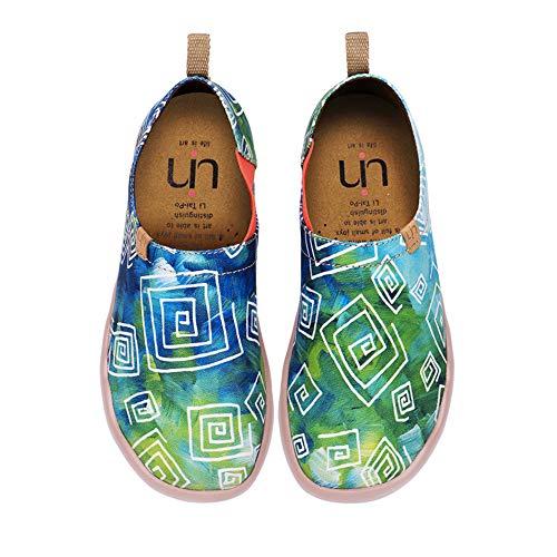 UIN Damen lieben im Frühjahr Canvas Loafer Schuh grün(39)