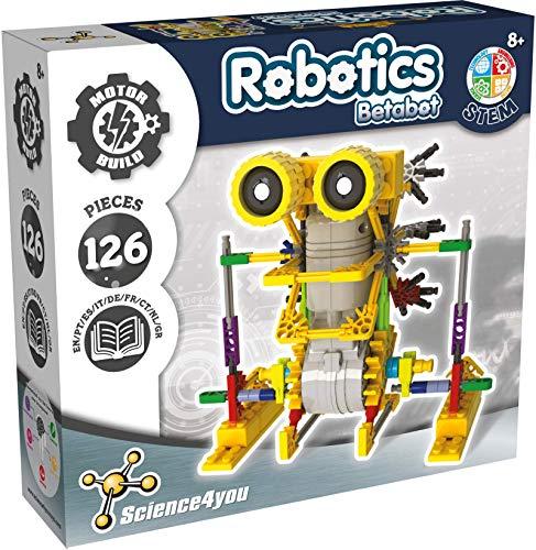 Science4you - Betabot Robot Interattivo per Bambini - Robot da Costruire per Bambini 8 Anni con Questo Giochi di Ingegneria 126 Pezzi, Esperimenti Scientifici e Giochi Istruttivi Bambini +8 Anni