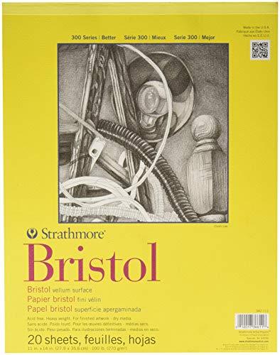 Strathmore Bristol-Block, 300er-Serie, 28,9 x 35,6 cm, 20 Blatt