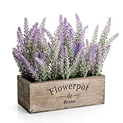 wooden faux lavender flower box french country