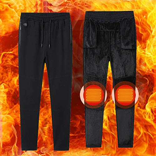 Rodilla usb Pantalones elegantes de los hombres de calefacción almohadillas eléctricas de calefacción calientan los pantalones ocasionales más los pantalones de terciopelo grueso calefacción tesoro de