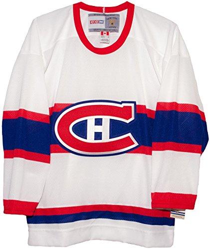 CCM Montreal White Vintage Hockey Jersey (Medium)