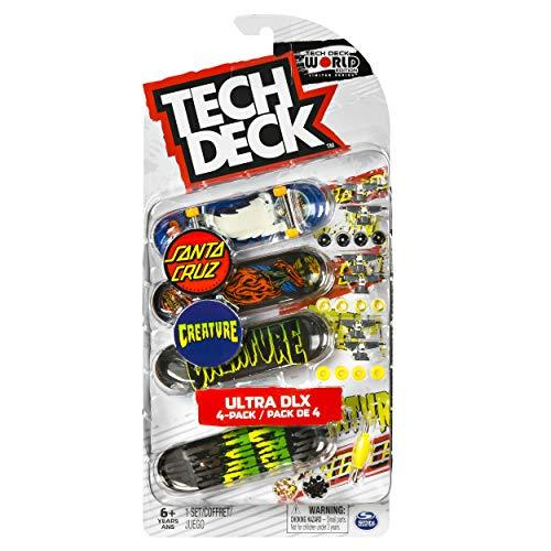 TECH DECK, Ultra DLX Fingerboard 4-Pack, Santa Cruz/Creature