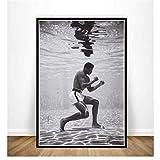 Malerei Muhammad Ali Ko Spiel König Boxer Motivations
