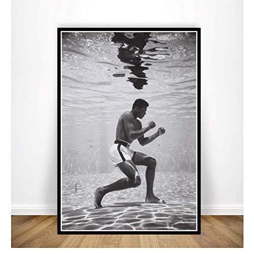 Malerei Muhammad Ali Ko Spiel König Boxer Motivations Poster Wandkunst Leinwandbild Wohnzimmer Wohnzimmer Decor-50x70cmx1pcs-Kein Rahmen