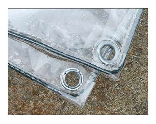 LKW-Plane Tarpaulin Transparent Wasserdicht Staubdichtes, Gewächshäuser Isolierung Kunststoff-Film, Balkonpflanze Regenschutz Tarp wasserdichte transparente (Color : Transparent, Size : 1.8x4m)