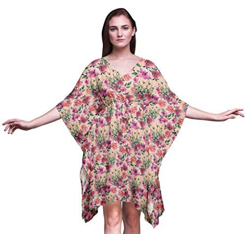 Bimba Blume Strand-Kaftan-Bikini verdeckt das Lange Kaftan der Frauen-4X-5X