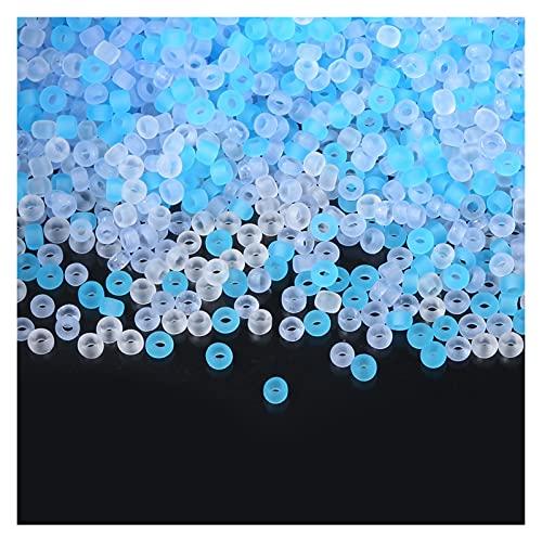 Cuentas de Arcilla para Hacer Joyas, 2 mm Colores Mate de Cristal Cuentas de Semillas de Vidrio Espaciador Charm de Cuentas para joyería Haciendo Accesorios de Costura de Ropa 1000pcs