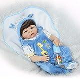 ZXYMUU Muñeca de bebé Realista, Hecho a Mano 57 cm 23'Baby Muñecas Reborn, bebés realistas Cuerpo de Silicona Completo Regalo de bebé Real, magnético