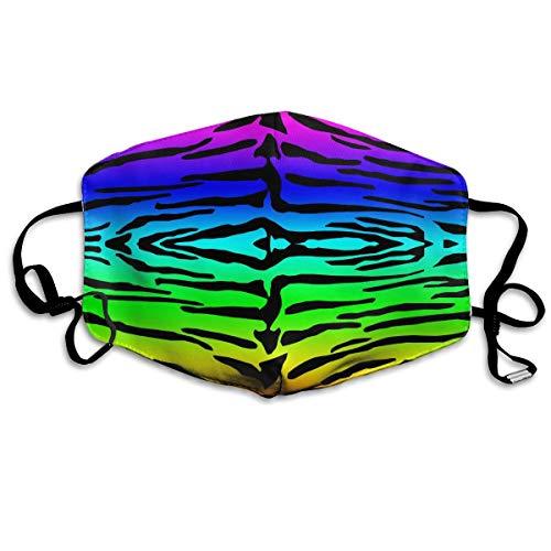 Wearibear - Mascarilla facial unisex con patrón de tigre colorido, re