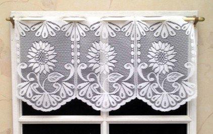 Rideau Brise bise 30 cm Blanc Brillant
