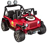 ​Fisher-Price Power Wheels BBQ Fun Jeep Wrangler, 12V battery-powered ride-on vehicle with pretend...